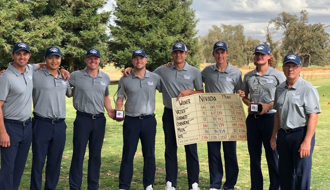 Nevada's men's gold team poses after the conclusion of the Nick Watney Invitational.