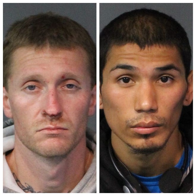 Mug shot photos of both James Paul Alvarez II, 32, (left) and Cesar Rivera, 24, who were both accused of burglarizing several businesses in the Midtown area.