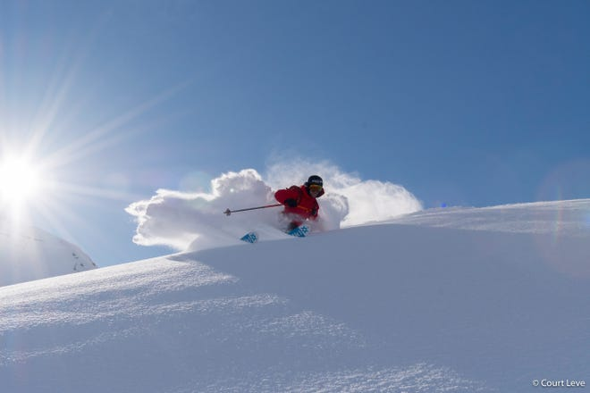 "A still from Warren Miller's ""Face of Winter."""