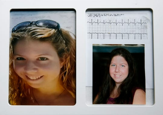 Photos of Emily Short, 22, who died in September of a heroin overdose, that her mother Tamara displays at her house in Irondequoit.