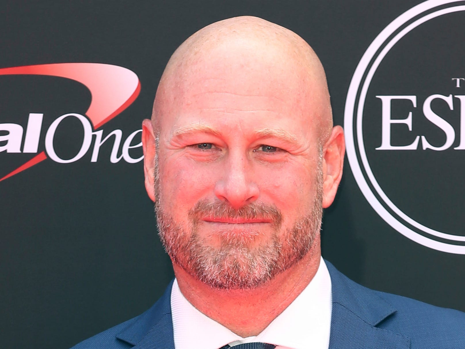 Former NFL football player Trent Dilfer arrives at the ESPY Awards at the Microsoft Theater on Wednesday, July 18, 2018, in Los Angeles. (Photo by Willy Sanjuan/Invision/AP)