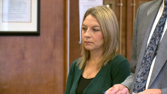 Jennifer Weathers appears in Yamhill County Circuit Court, she was charged with DUI and reckless endangerment for driving drunk with her granddaughter in the car the night of her daughter Meighan Cordie's death.(Image provided by KGW)
