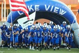 Lake View football went out with a bang on Thursday night, beating Big Spring 35-20 in regular-season finale to enter playoffs on a winning note