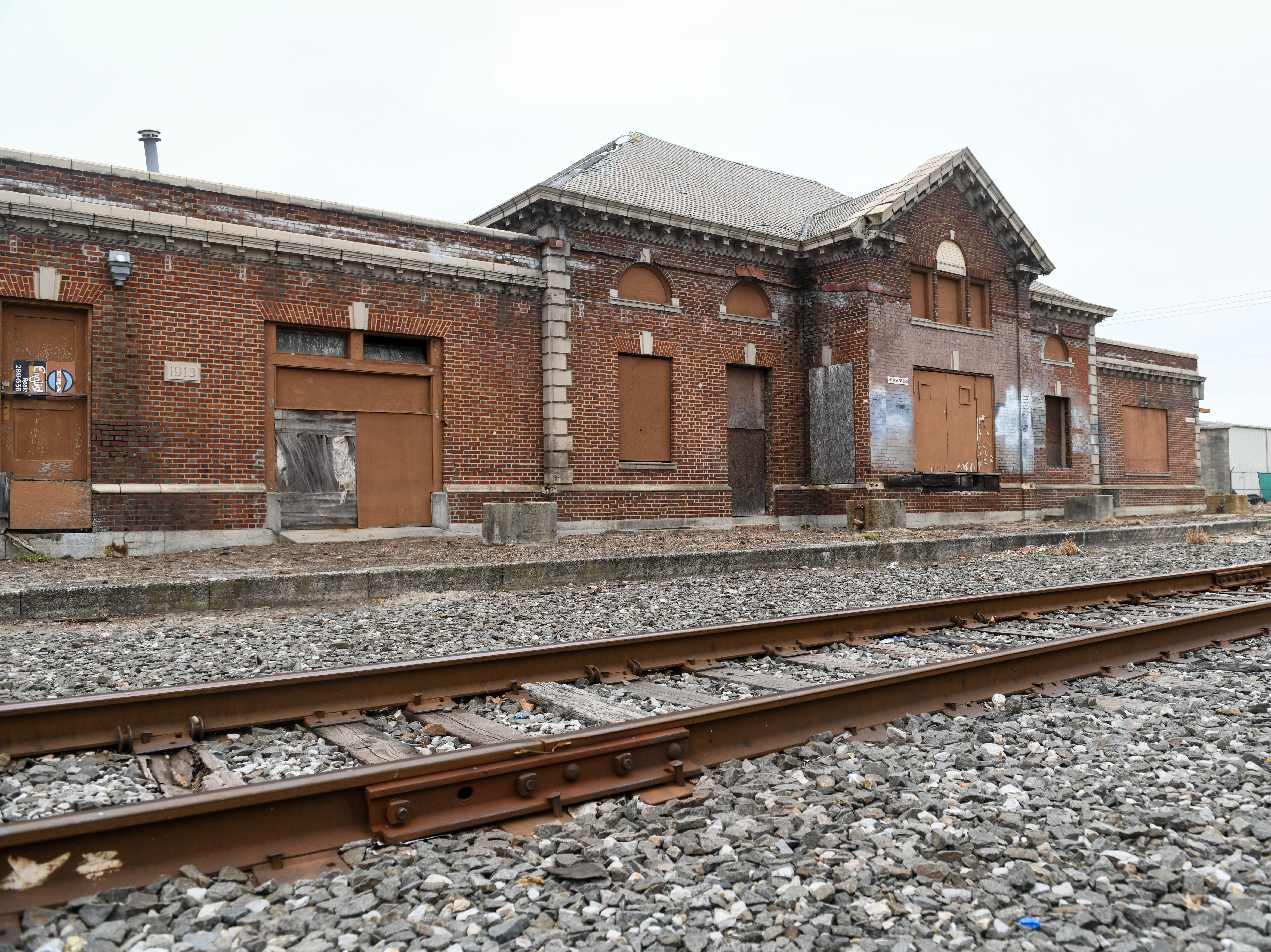 An abandoned railway station sits at the site of a new railroad bike path that when complete will run from Fruitland to Delmar on Friday, Oct 5, 2018.