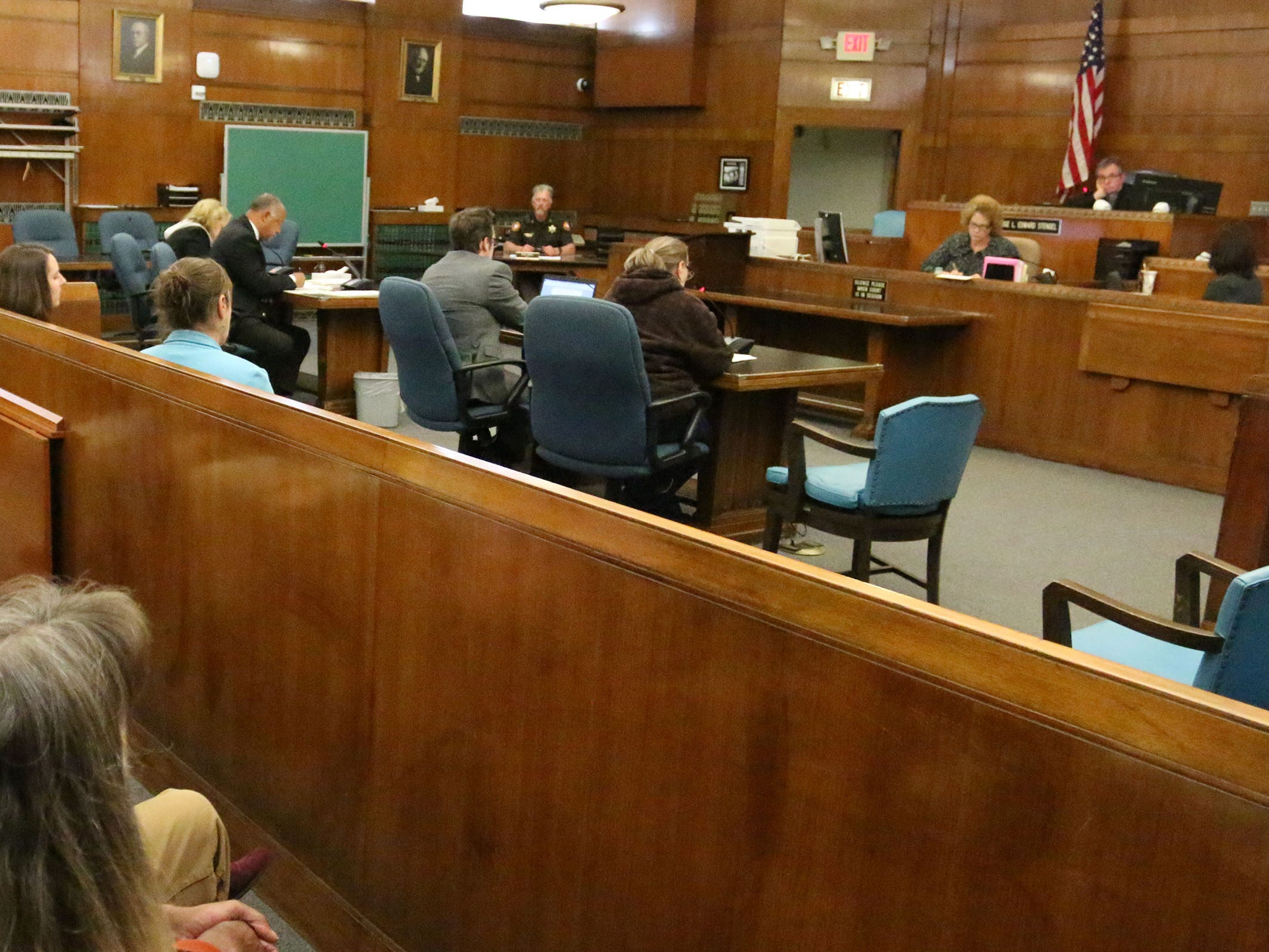 An overall during the sentencing hearing of Christy Rose Tuchel in Sheboygan County Circuit Court Branch 1, Friday, October 5, 2018, in Sheboygan, Wis.