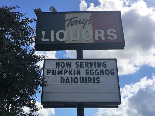 Tony's is serving a pumpkin eggnog daiquiri for the fall.