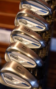Ping irons are on display at Austad's Golf Friday, Oct. 5, in St. Cloud.