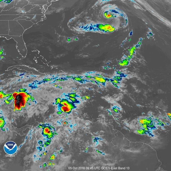 Atlantic tropics 6 a.m. Oct. 5, 2018.