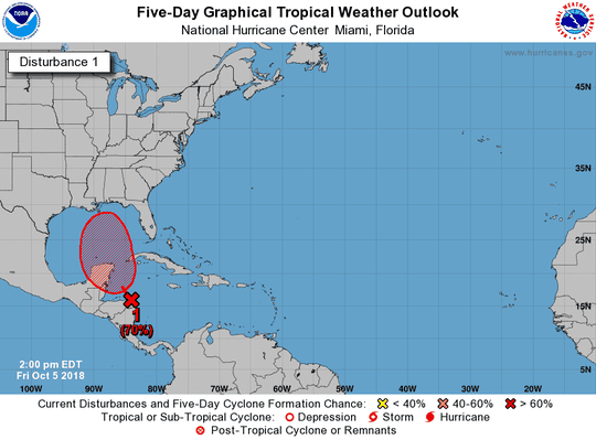 Tropical wave 2 p.m. Oct. 5, 2018.