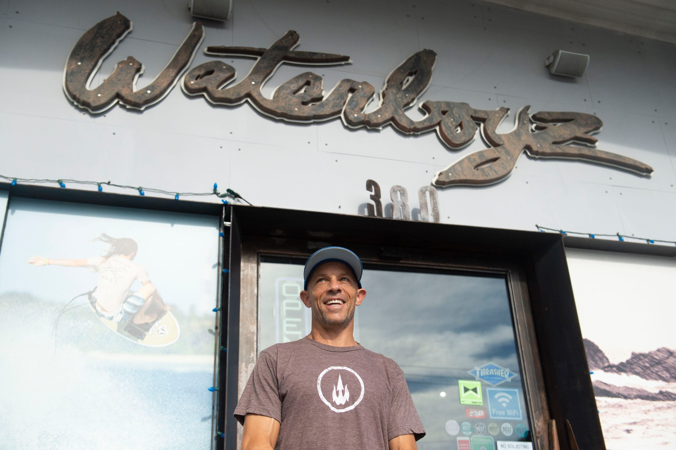 """I started this business in 1989, but it wasn't like this,"" said Waterboyz owner Sean Fell, 51, of Gulf Breeze, about the massive indoor shop, restaurant and skate park he owns in Pensacola. Initially, Fell began making surfboards in a laundry closet and the business expanded over time. ""It just grew and grew, it was totally non-intentional. I just didn't quit. I just didn't give up,"" he said."