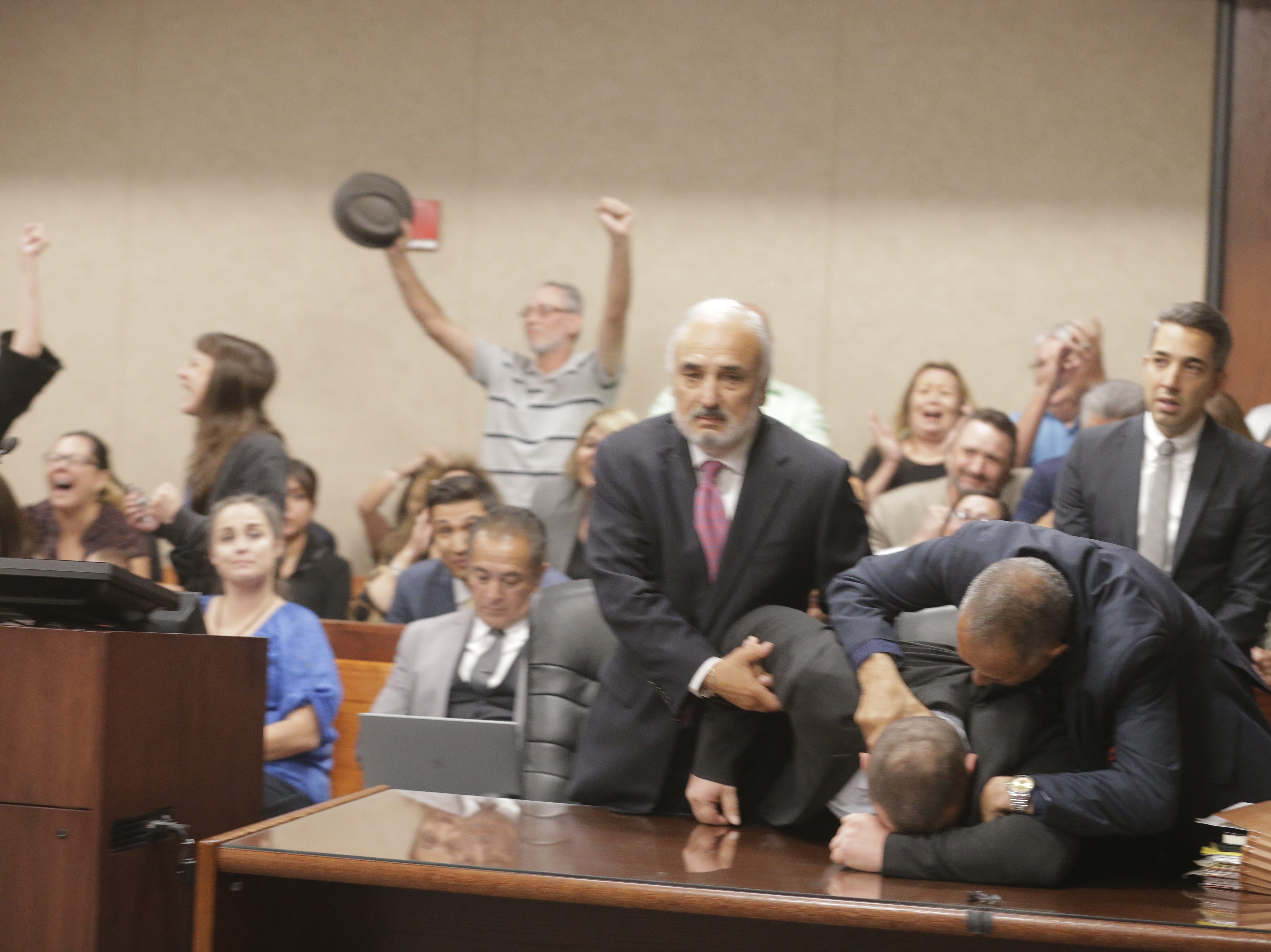 Daniel Villegas' family and supporters cheered as the verdict was read.