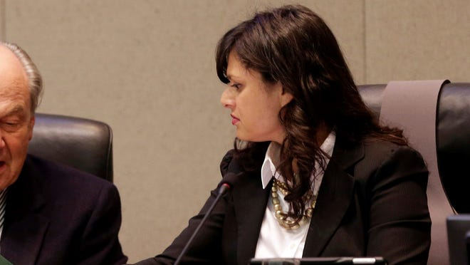 Priya Mathur, right, shown in a 2014 file photo, has been defeated as president of the California Public Employees Retirement System.