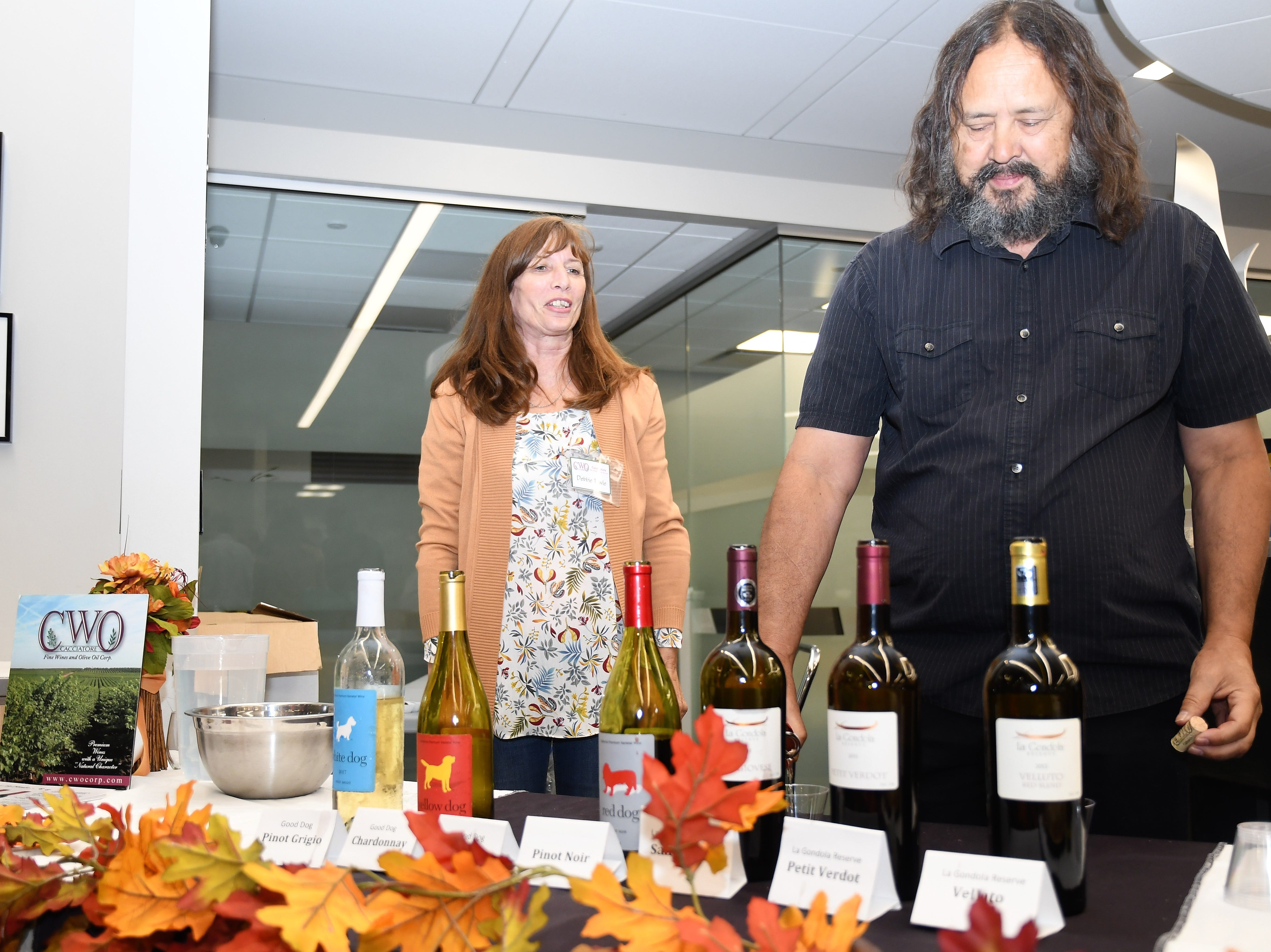 Cacciatore Fine Wines & Olive Oil Corp. brought their collection of wines to Taste of Downtown - all grown and processed in Lindsay, CA.