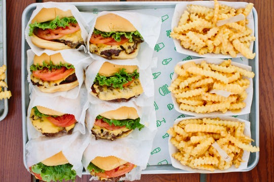 Burgers and fries from Shake Shack.