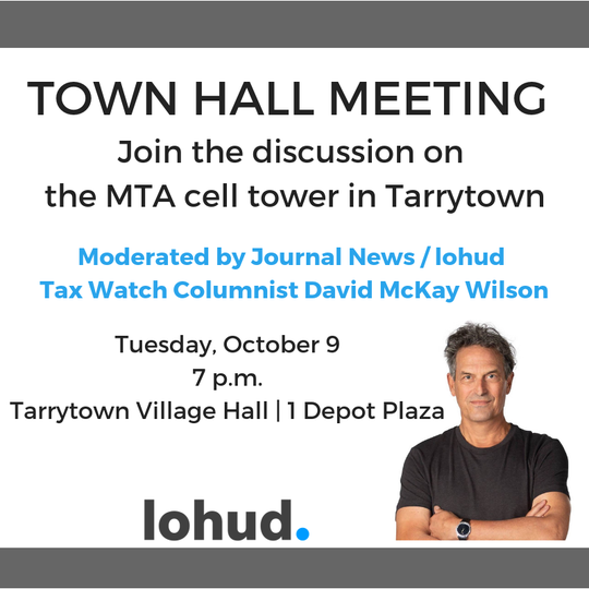 Town Hall Meeting in Tarrytown on Oct. 9