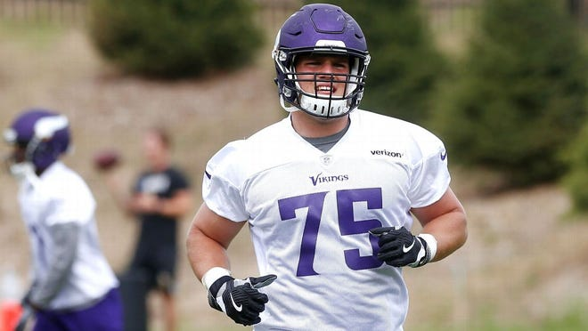 Right tackle Brian O'Neill, a Salesianum graduate, was the Vikings' second-round pick last spring.