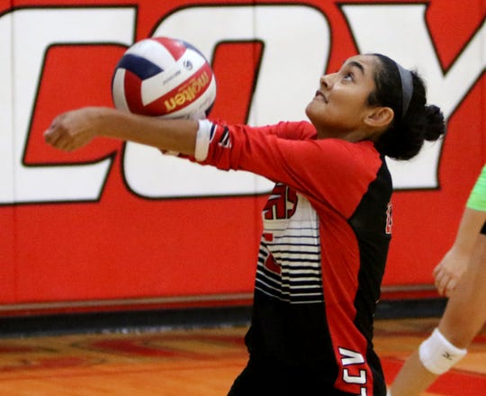 Wichita Falls High School junior Alyssa Salazar will serve as the Lady Coyotes setter this season.