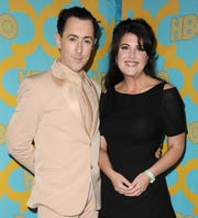 Monica Lewinsky with her pal Alan Cumming at the HBO post-Golden Globe Awards party in Beverly Hills in January 2015.
