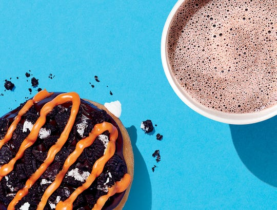 Dunkin' has a new Oreo Donut and Oreo Hot Chocolate available into November.