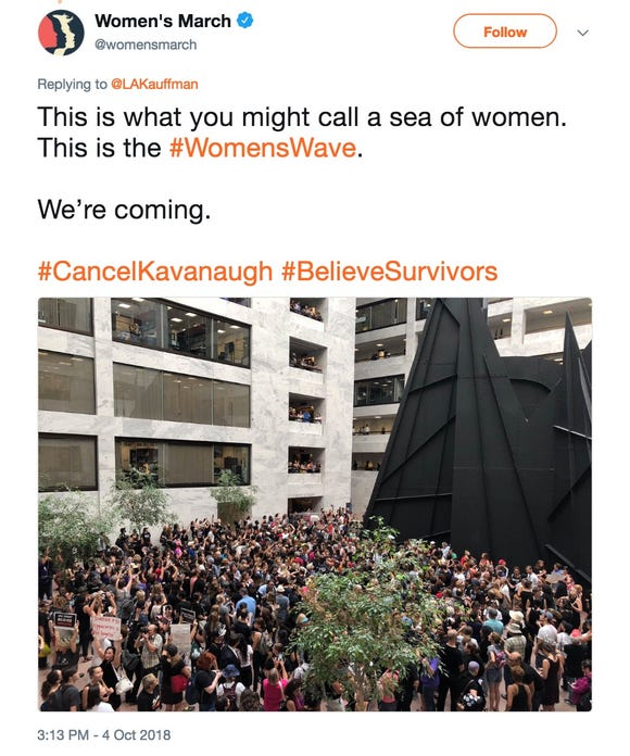 A tweet from @womensmarch