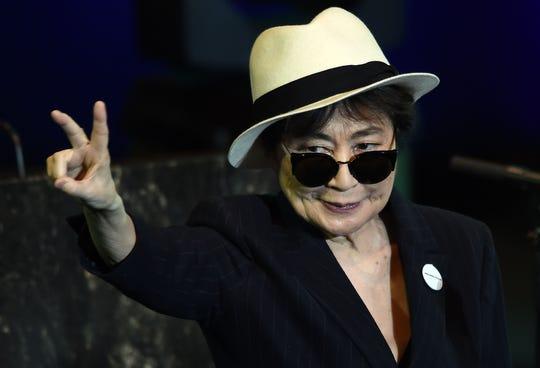 "Yoko Ono's album ""Warzone"" drops Friday."