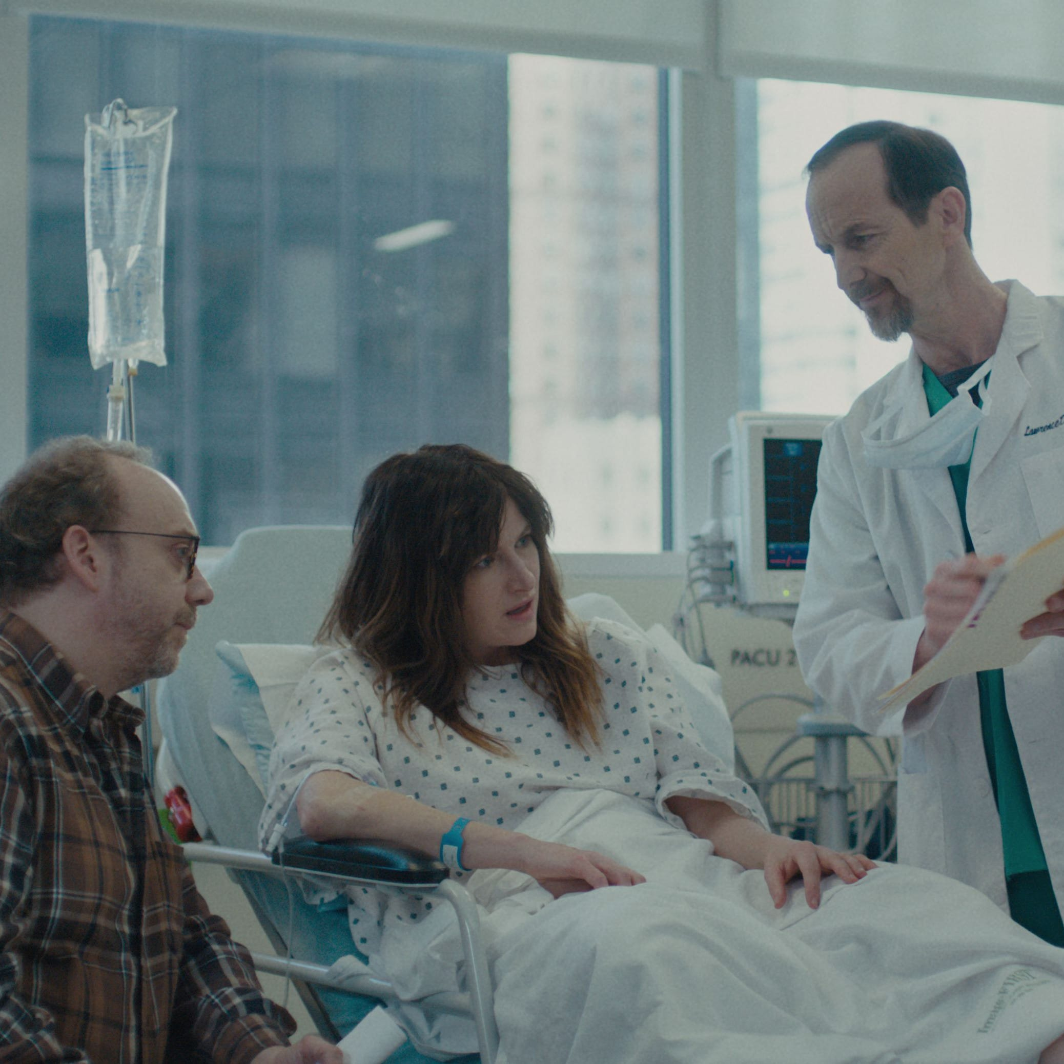 "Paul Giamatti, left and Kathryn Hahn take on fertility in the new Netflix comedy, ""Private Life."""