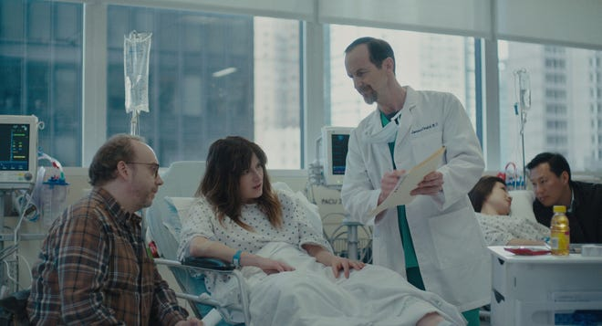 "Paul Giamatti, left, and Kathryn Hahn take on fertility in the new Netflix comedy, ""Private Life."""
