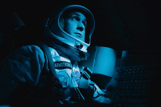 "Ryan Gosling as Neil Armstrong in ""First Man."""