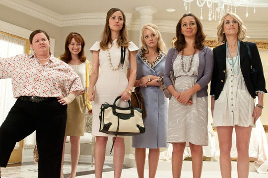 "Ellie Kemper was one of the bridesmaids, Becca, in the 2011 movie ""Bridesmaids."""