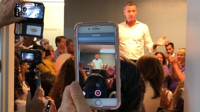 'California Dream' at risk, says gubernatorial candidate Gavin Newsom