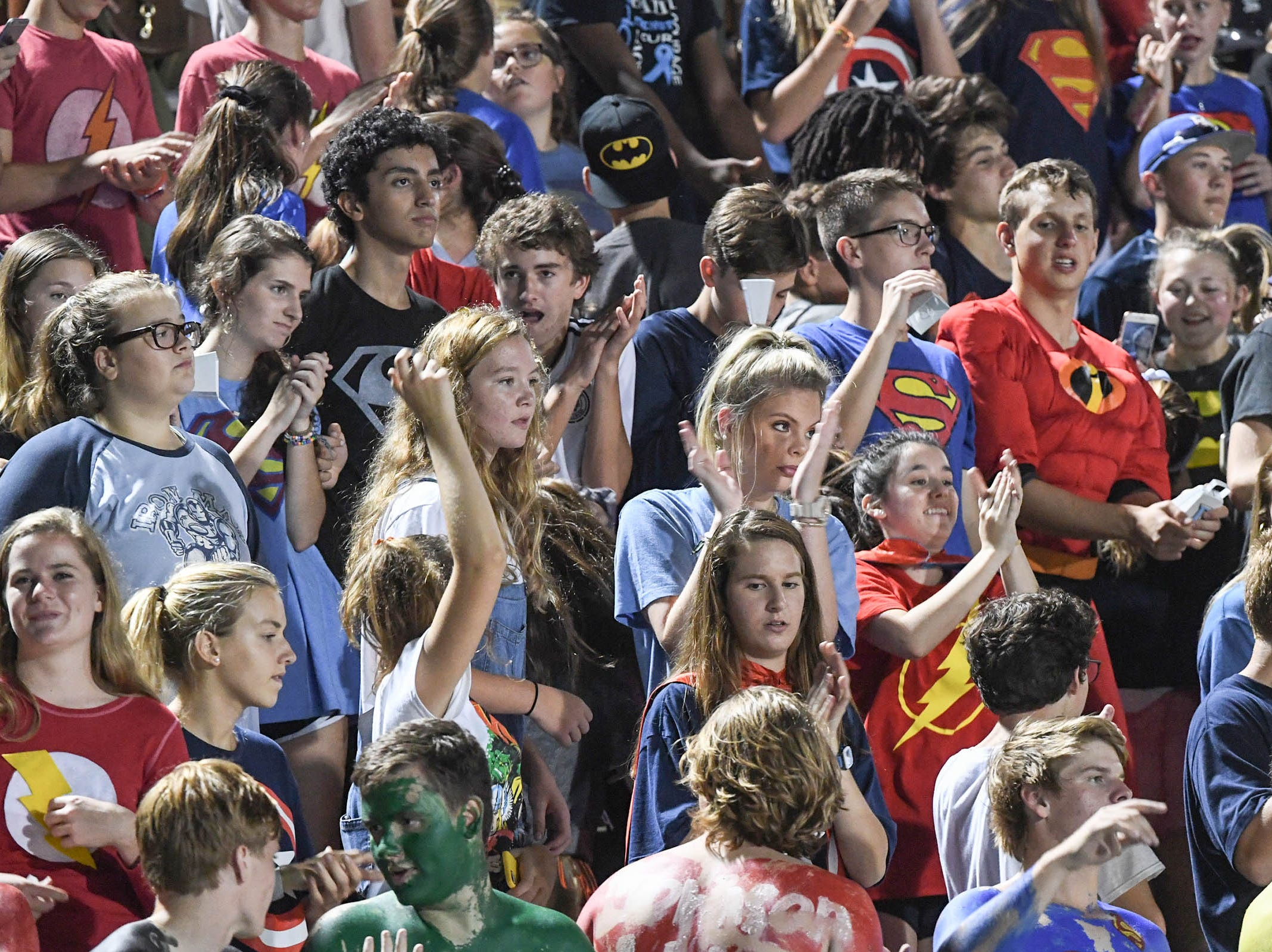 DW Daniel High School fans during the fourth quarter at D.W. Daniel High School in Central on Friday, October 5, 2018.