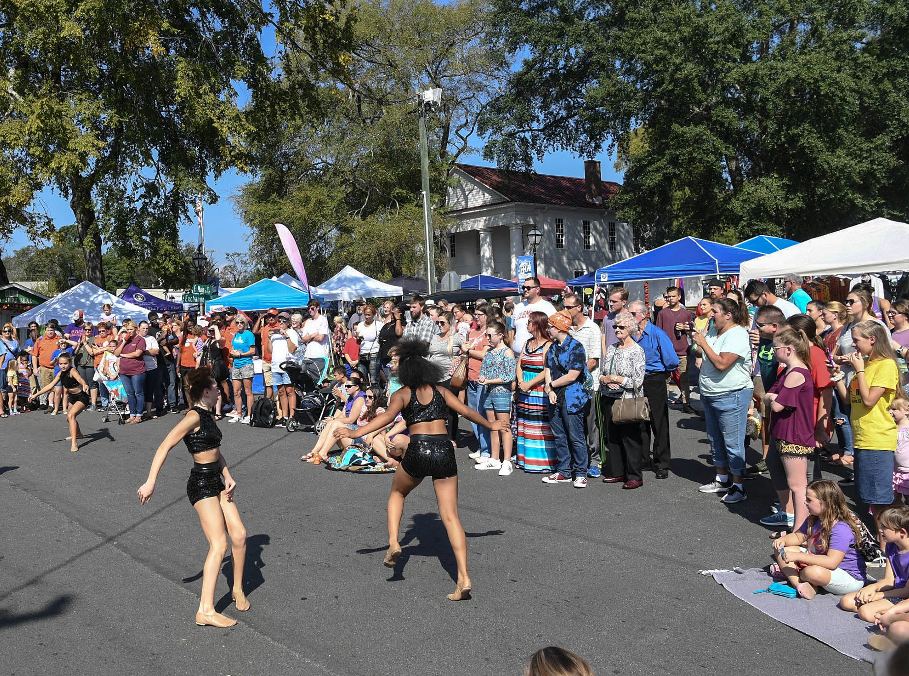 Elevation Dance Company perform at the 20th Pendleton Fall Harvest Festival in the town square on Saturday, October 5, 2018.