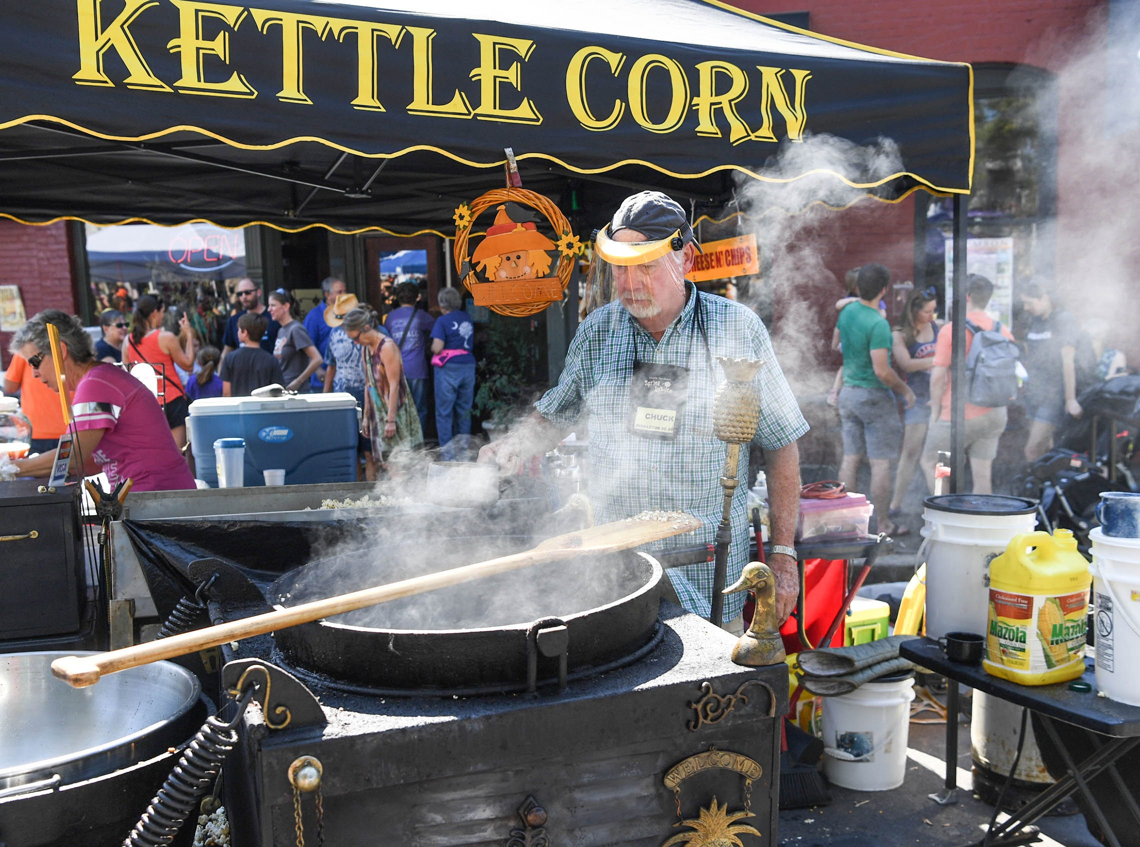 Kettle Corn booth at the 20th Pendleton Fall Harvest Festival in the town square on Saturday, October 5, 2018.