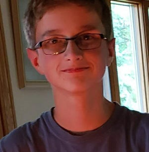 Henry Schinke, 13, has been recovering since he was hurt in a motorcycle-bicycle crash in August.