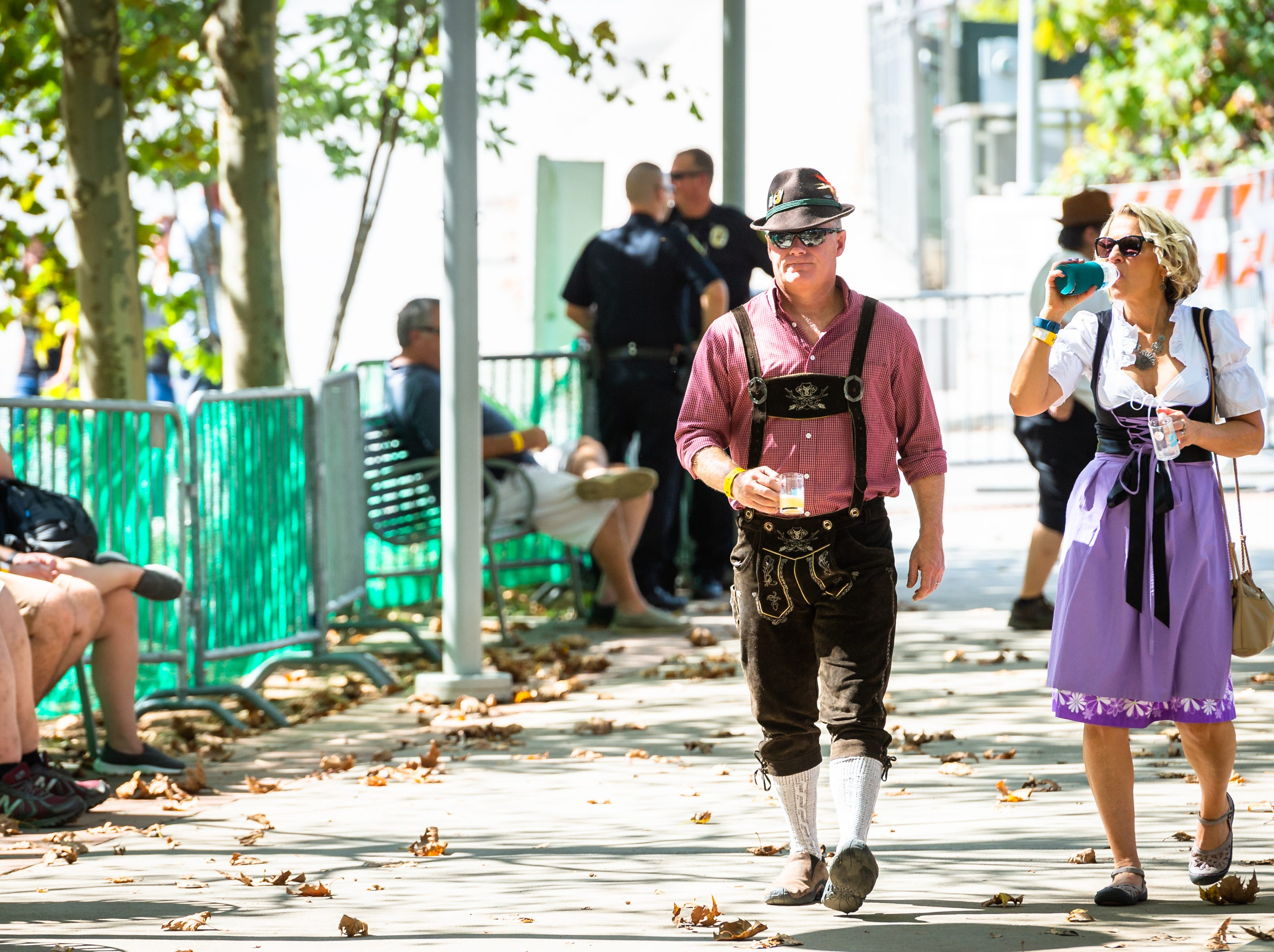The 10th annual Asheville Oktoberfest took place at Pack Square Park Saturday afternoon featuring polka music from Mountain Top Polka Band as well as beer, wine, cider and craft beverage sampling, Oct. 6, 2018.