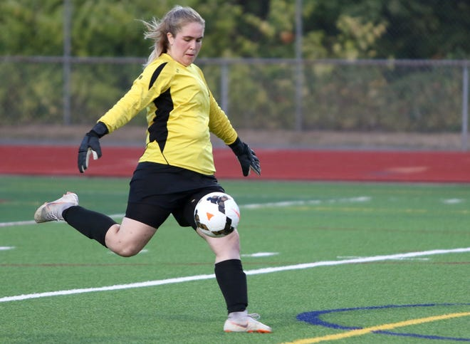 Maria Mist, Klahowya's starting goaltender, is an exchange student from the soccer-made nation of Iceland.
