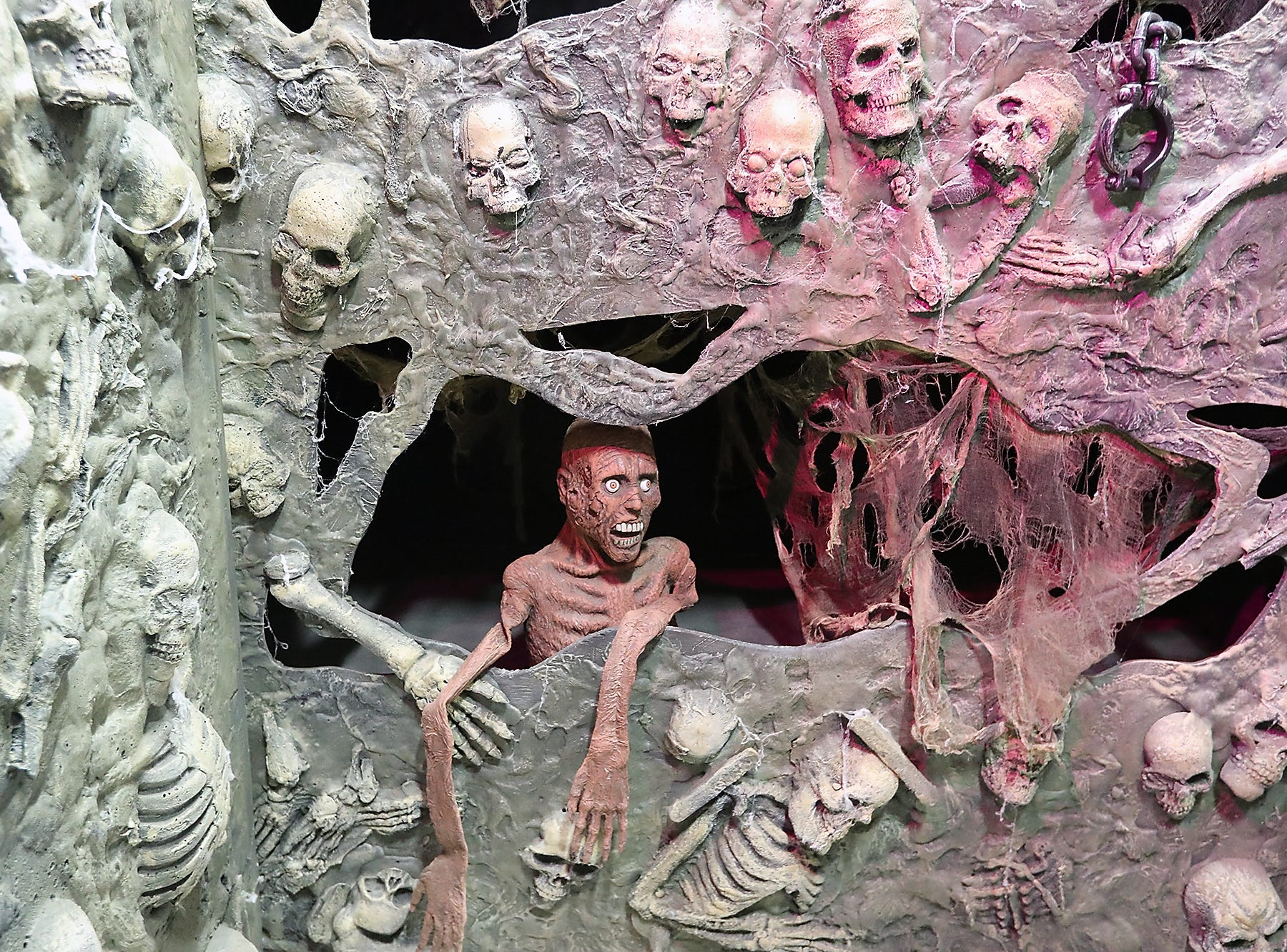 Ghoulish catacombs await visitors to the Kitsap Haunted Fairgrounds on Friday, October 5, 2018.