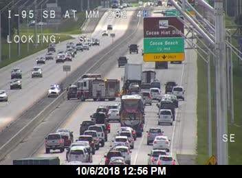 Tractor trailer crash blocks Interstate 95 traffic Saturday afternoon.