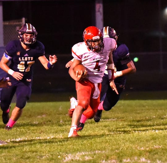 Newport's Giaunte Jackson has ran for 236 yards and four touchdowns this season for the unbeaten Wildcats.