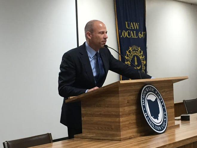 Michael Avenatti speaks Friday to Democrats in Evendale