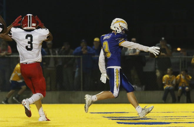 Philo's Ashlin Bailey trots into the endzone with a touchdown against Coshocton Friday night.