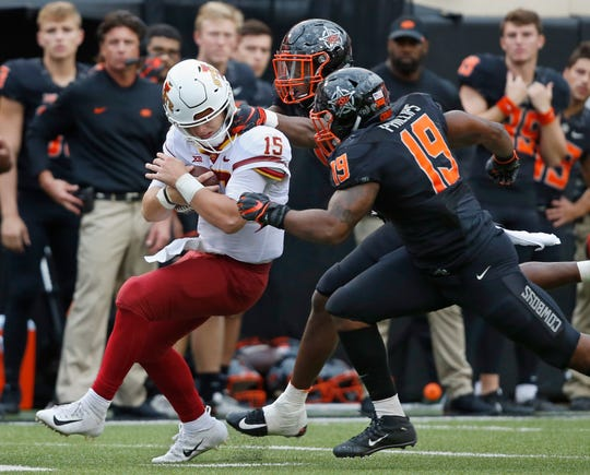 Brock Purdy rushed for 84 yards and a touchdown against Oklahoma State.
