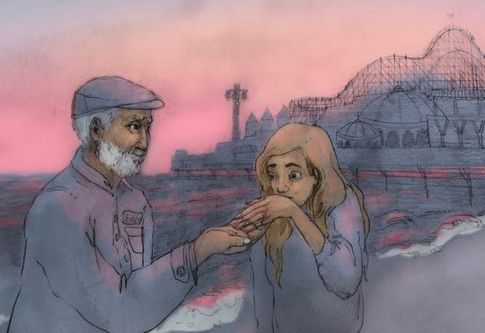 """In Mitch Albom's """"The Next Person You Meet in Heaven,"""" Annie meets Eddie the maintenance man in the afterlife. When their hands made contact, Annie felt safer than she'd ever felt before."""