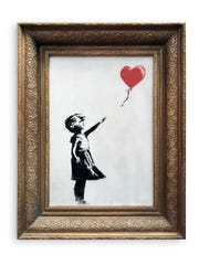 In this undated photo provided by Sotheby's the spray-painted canvas 'Girl with Balloon' by artist Banksy is pictured.