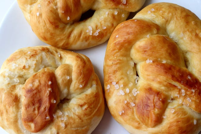 Homemade Auntie Anne type pretzels. (Hillary Levin/St. Louis Post-Dispatch/TNS)