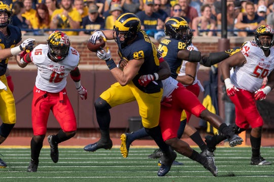 Michigan tight end Zach Gentry could have a big impact on Saturday's game.