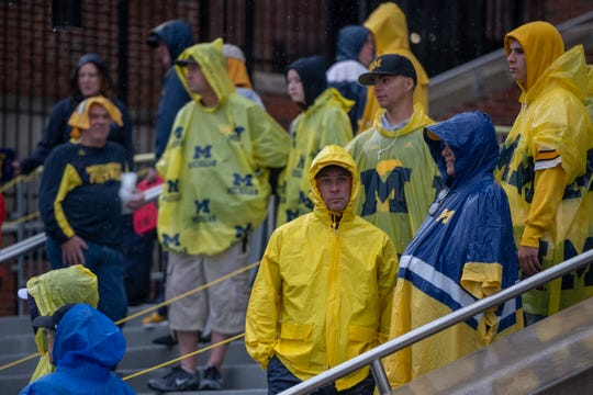 Rain is expected for Saturday's Michigan-Notre Dame game.