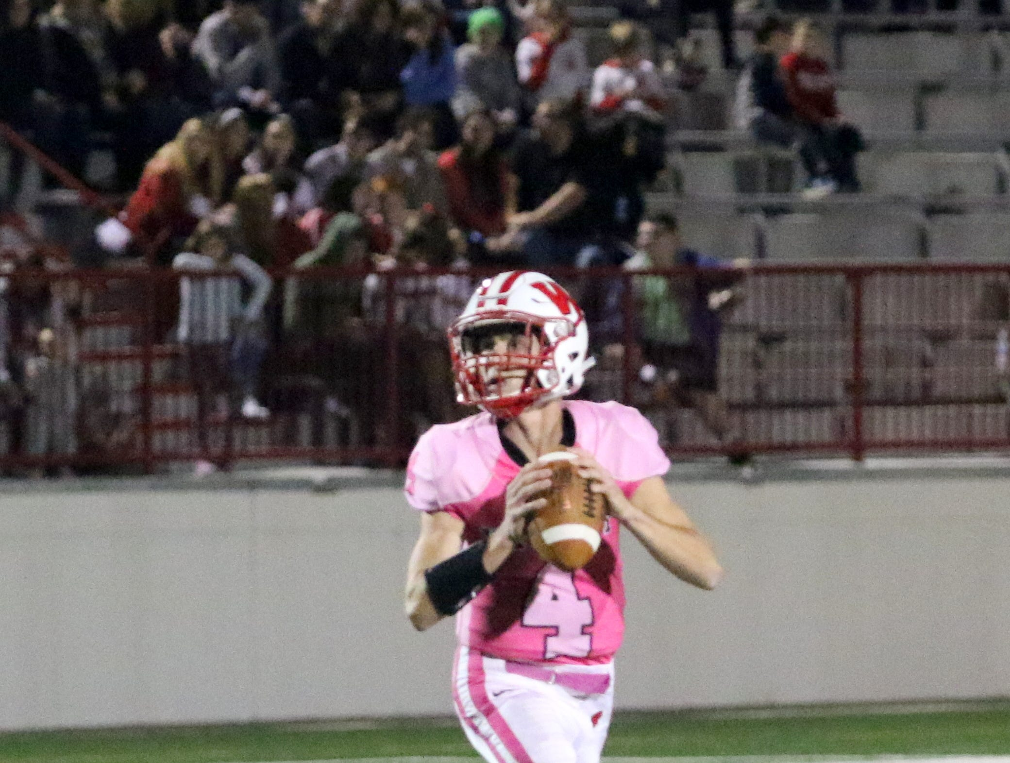 Waverly was a 30-14 winner over Dryden in football Oct. 5, 2018 at Waverly Memorial Stadium. It was homecoming for Waverly, which wore pink uniforms in support of Breast Cancer Awareness Month.
