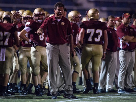 Mater Dei coach Mike Goebel will lead the Wildcats against North Posey Friday in the Class 2A sectional opener at Reitz Bowl.