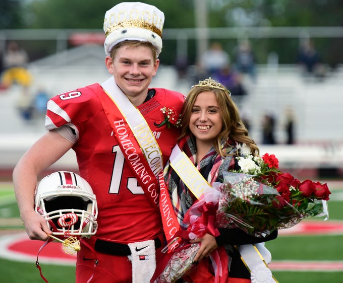 Port Clinton High School 2018 senior homecoming king Max Brenner, left, and queen Stacey Bragg.